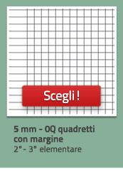 Quaderni a quadretti 0Q, da 5mm con margine