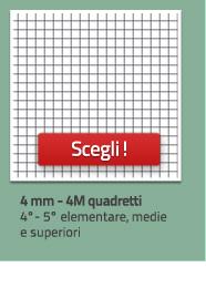 Quaderni a quadretti 4M, da 4mm